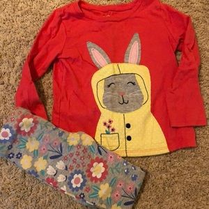 Carters bunny outfit -4T